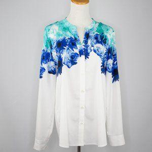 Calvin Klein crepe floral blouse (L)